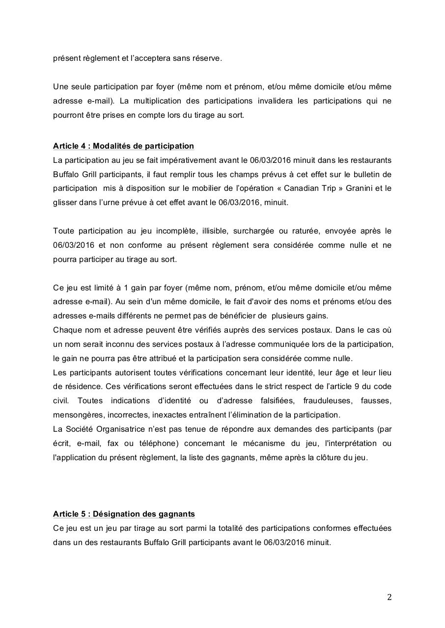 Règlement complet jeu Canadian TRIP BuffaloGrill.pdf - page 2/7