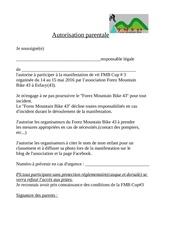 Fichier PDF autorisation parentale fmb cup 3