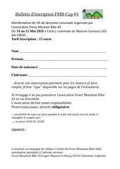 bulletin d inscription fmb cup 3