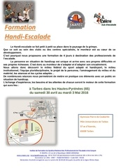 formation handi escalade programme inscription