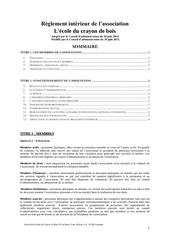reglement interieur ecb juin 2015