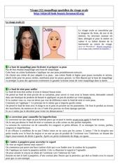 visage 12 essai maquillage quotidien du visage ovale