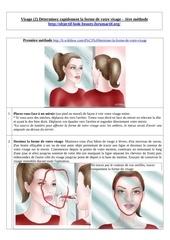 visage 2 determinez la forme 1ere methode