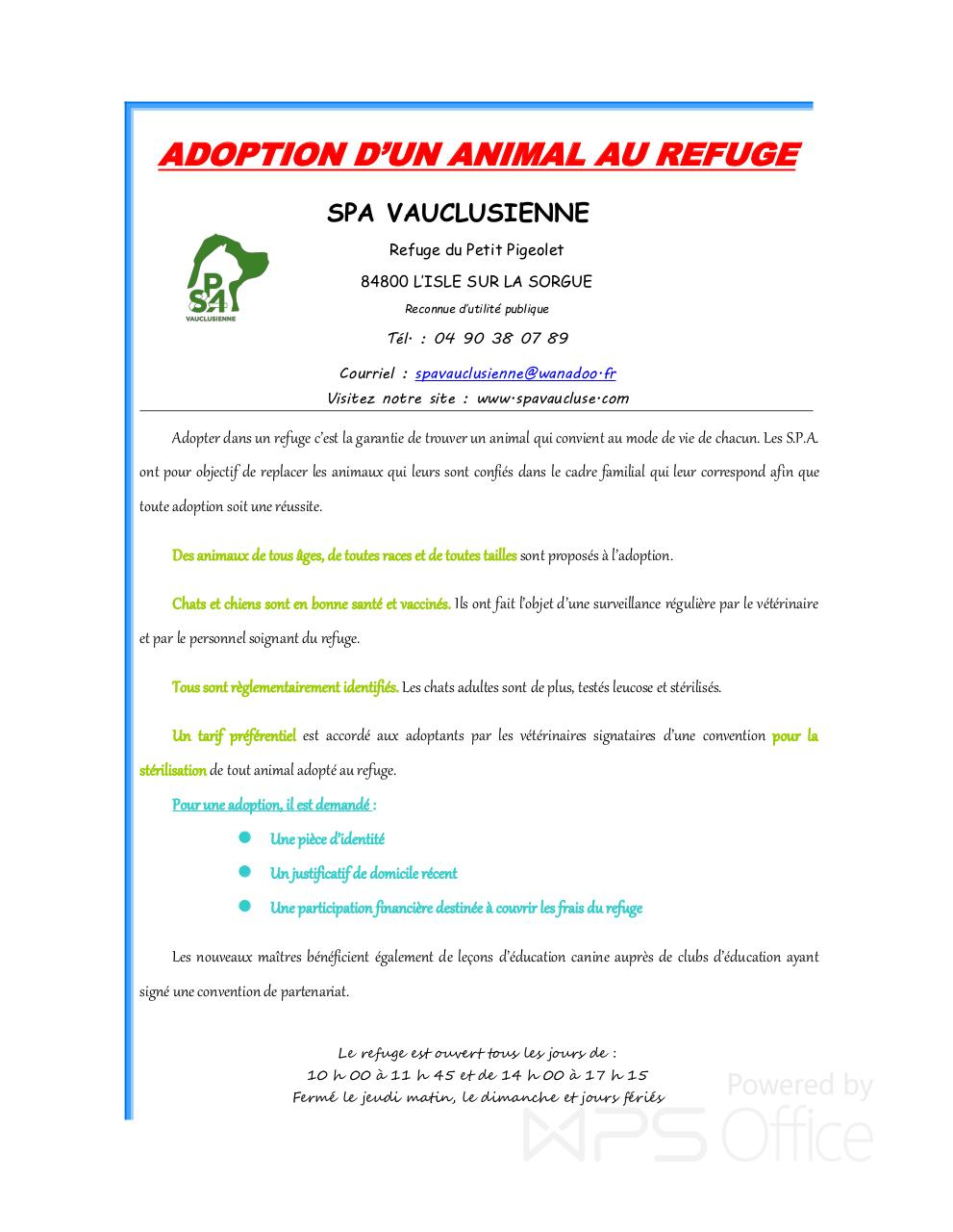 Adoption d'un animal au refuge.pdf - page 1/2
