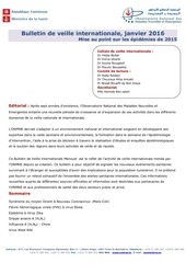 bulletin de veille internationale janvier 2016