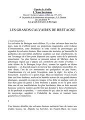 calvaires breton