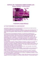catalogue subliminal espace de therapies emotionnelles 1