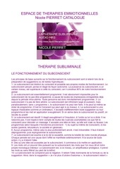 catalogue subliminal espace de therapies emotionnelles