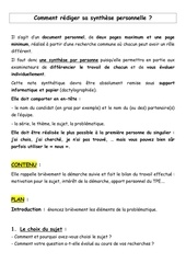 Fichier PDF consignes synthese personnelle