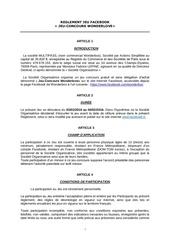 reglement jeu concours fb wonderlove 3 au 4 fevrier