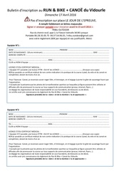 bulletin inscription run bike canoe du vidourle