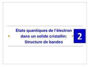 Fichier PDF cours phys comp s5 chapitre 2 etats quantiques de l electron dans un solide cristallin structure de bandes