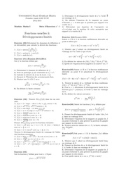 fonctions usuelles et dl