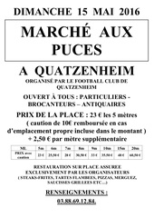 affiche inscription reglement brocante avec caution
