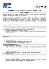 fdj2016 termes de reference
