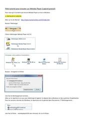 Fichier PDF petit tutoriel pour ecouter sur melody player