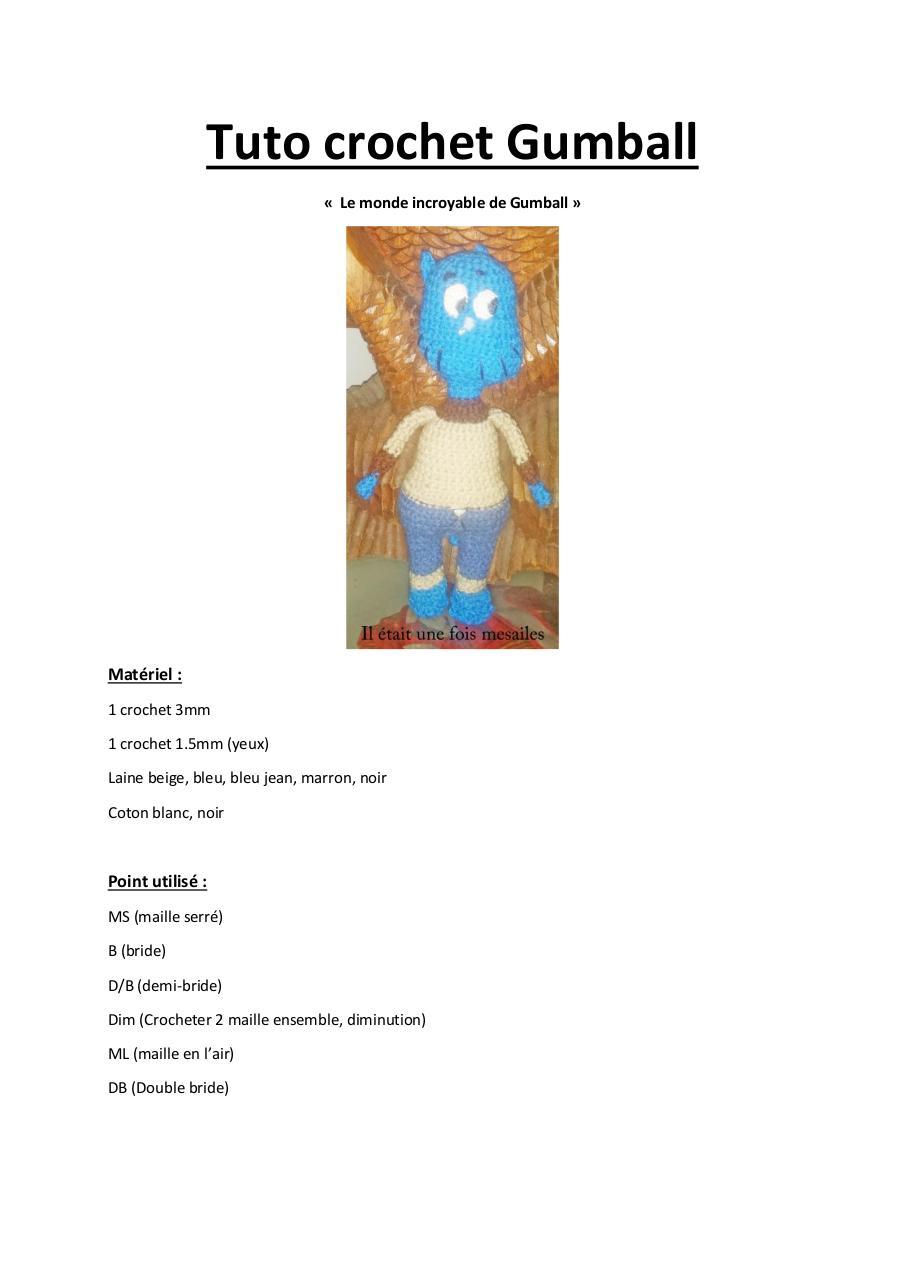 tuto crochet gumball par mesailes création par vini-mélie - fichier pdf