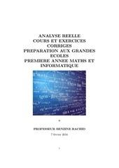analyse reelle cours et exercices corriges premiere annee maths et informatique