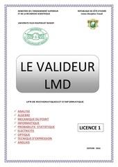 le valideur 2016 licence 1