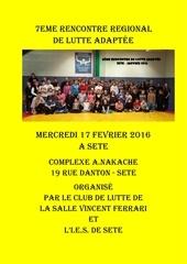 7eme rencontre lutte adaptee fevrier 2016