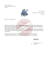Fichier PDF lettre de licenciment