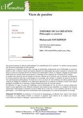 savadogo theorie de la creation