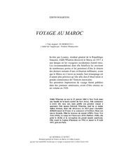 voyage au maroc edith wharton