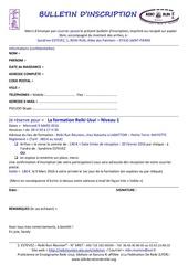 bulletin d inscription reiki niveau 3 mayotte 9 mars 2016