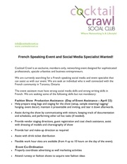 french social media events specialist