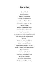 jeune aise poeme