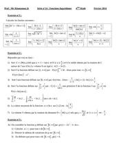 serie logarithme neperien bac math