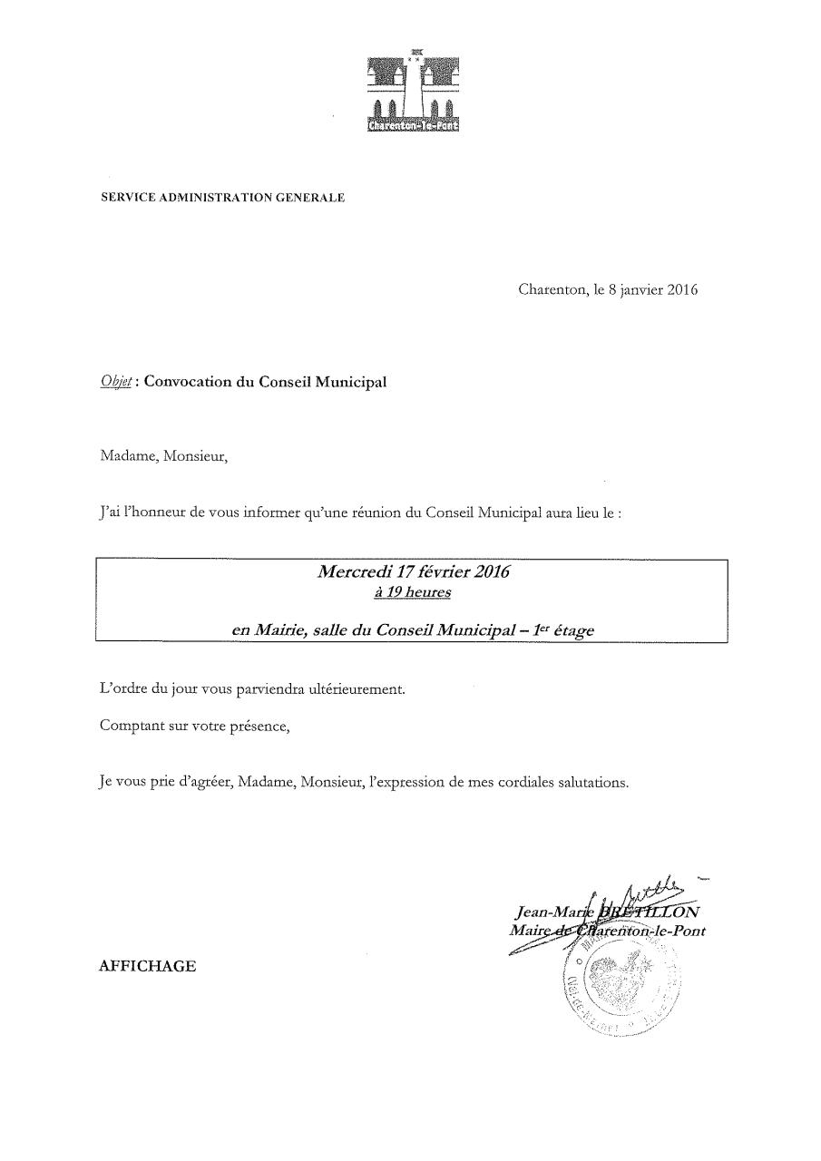 exemple de convocation  u00e0 une r u00e9union pdf