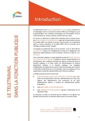 guide dgafp teletravail fonction publique