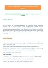 ouverture des inscriptions trail d ibity 2eme edition