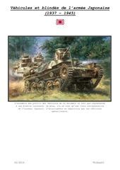 vehicules et blindes de l armee japonaise