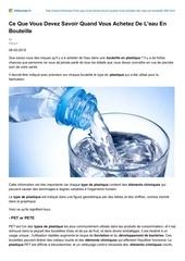 Fichier PDF a savoir avant d acheter de l eau en bouteille hithenews