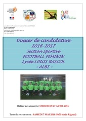 dossier section football 2016 2017