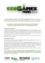 eco gamesparis2016 presentationgeneraleofficiel
