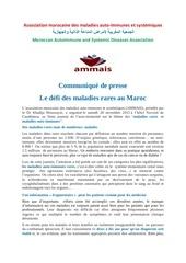 le defi des maladies rares en francais et en arabe