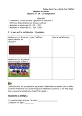 Fichier PDF cours multiplication eleves