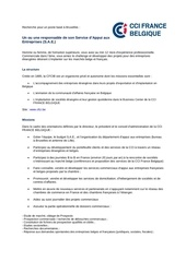 offre responsable sae