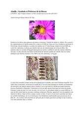 abeille deesse et miel vert