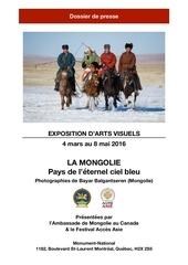 exposition de photos mongoles dossier de presse