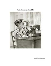 Fichier PDF technique de couture 101