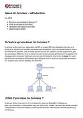 Fichier PDF bases de donnees introduction