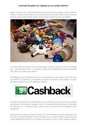 Fichier PDF comment recuperer de l argent sur ses achats internet