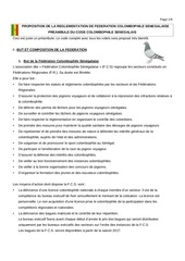 code colombophile senegalais