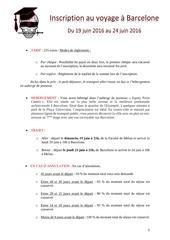 Fichier PDF inscription au voyage a barcelone