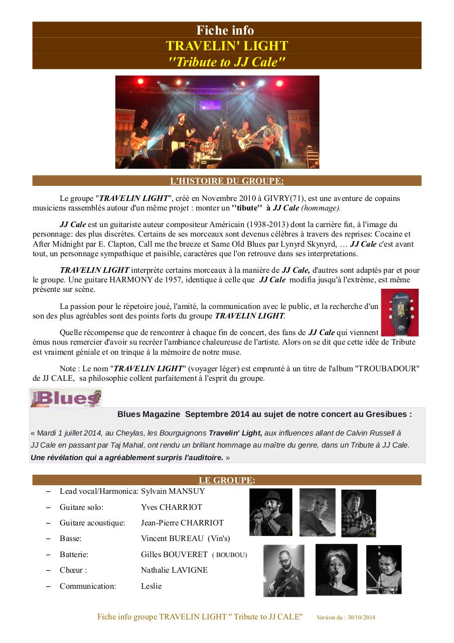 Fiche info groupe Travelin light.pdf - page 1/2