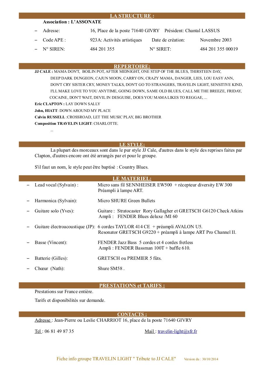 Fiche info groupe Travelin light.pdf - page 2/2